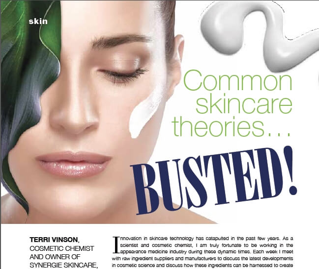 Skincare Myths Busted by Terri Vinson