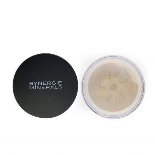 Synergie Minerals Second Skin Crush Loose Minerals powder foundation, available in 9 colors.